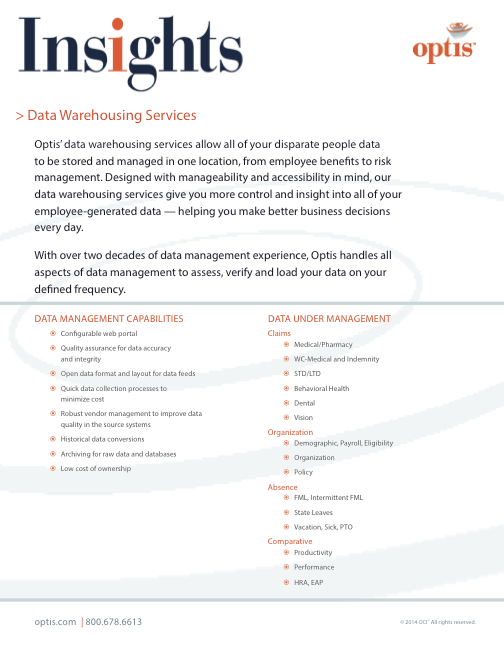 Optis Data Warehousing Services Thumbnail